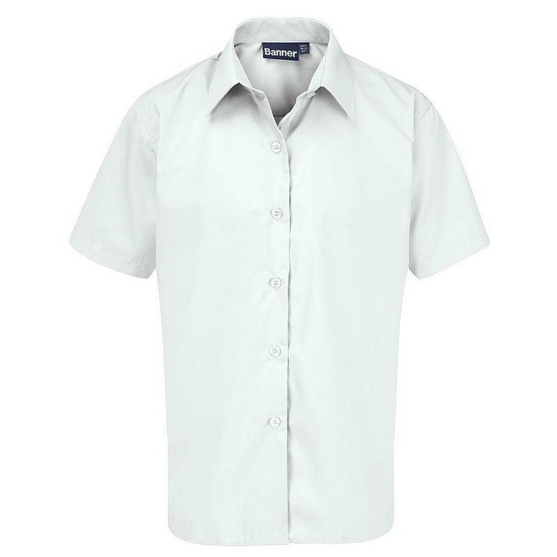 Short Sleeve Blouse 2-Pack (White)