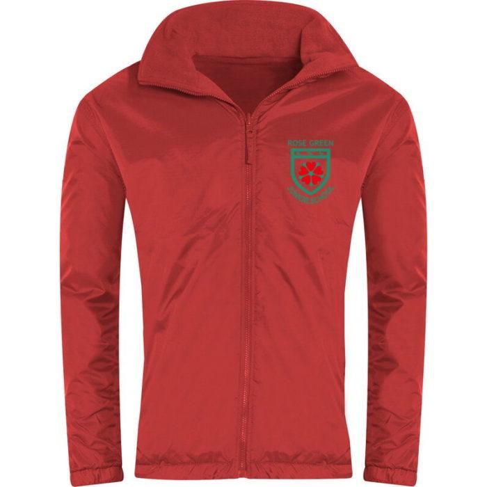 Rose Green Reversible Fleece Jacket
